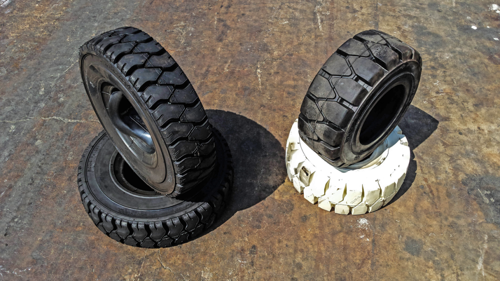 Which Forklift Tire is for You? Solid Vs Pneumatic   - Forklifts in