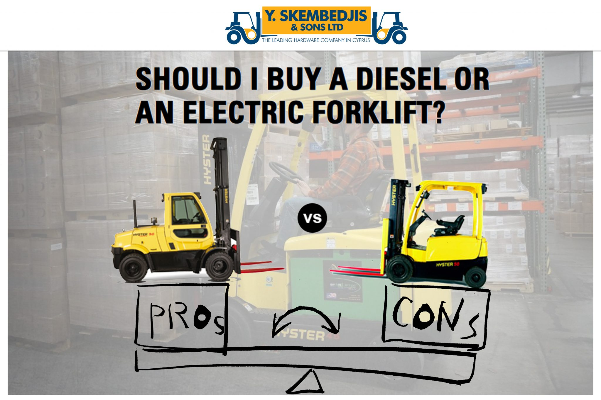 Warehouse Machines│Forklifts in Cyprus